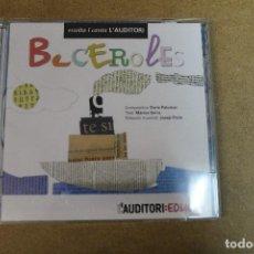 CDs de Música: CD BECEROLES ESCOLTA I CANTA L'AUDITORI. Lote 69726621