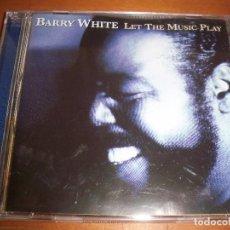 CDs de Música: CD DE BARRY WHITE, LET THE MUSIC PLAY. EDICION SPECTRUM DE 1999. COMO NUEVO.. Lote 69749497