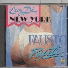 CDs de Música: FAUSTO PAPETTI. ECOS DE NEW YORK. CD CANADA 1989. SEXY COVER. Lote 69811617