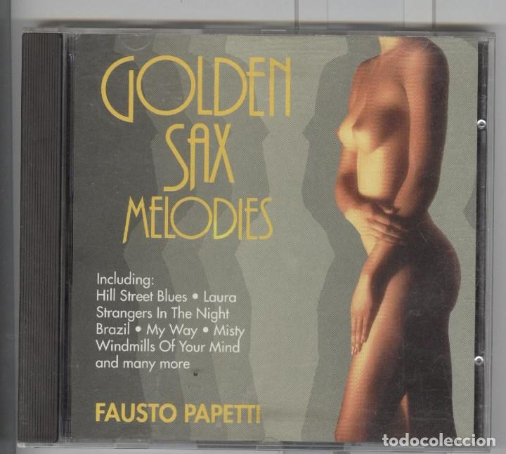 FAUSTO PAPETTI. GOLDEN SAX MELODIES. CD 1990. SEXY COVER (Música - CD's Melódica )