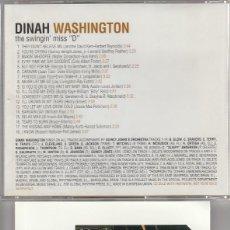 Music CDs - THE ART OF VOCAL JAZZ (JAZZ VOICE) DINAH WASHINGTON / THE SWINGIN' MISS D (CD UNIVERSAL 2004) - 69897421
