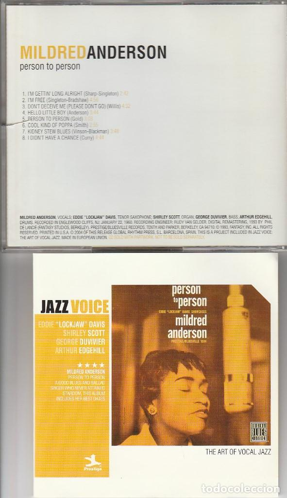 THE ART OF VOCAL JAZZ (JAZZ VOICE) MILDRED ANDERSON / PERSON TO PERSON (CD UNIVERSAL 2004) (Música - CD's Jazz, Blues, Soul y Gospel)