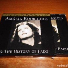CDs de Música: AMALIA RODRIGUES & THE HISTORY OF FADO 5 CD BOX SET CAJA DEL AÑO 2006 ITALIA 76 TEMAS MUY RARA. Lote 69958693