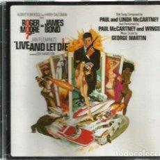 CDs de Música: CD ROGER MOORE & JAMES BOND & PAUL MCCARTNEY : LIVE AND LET DIE (CONTIENE 8 BONUS TRACKS ). Lote 70007217
