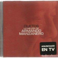 CDs de Música: CD ARMANDO MANZANERO - DUETOS CON CAFE QUIJANO, ALEJANDRO SANZ, MIGUEL BOSE, LOLITA, COMPLICES. Lote 70007337