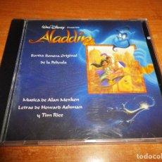 CDs de Música: DISNEY ALADDIN BANDA SONORA EN ESPAÑOL CD ALBUM 1992 ENRIQUE DEL POZO & MICHELLE ALAN MENKEN. Lote 171149488