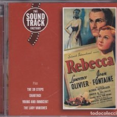 CDs de Música: REBECCA (MUSIC FROM THE ALFRED HITCHCOCK MOVIES) - FRANZ WAXMAN . Lote 70075817