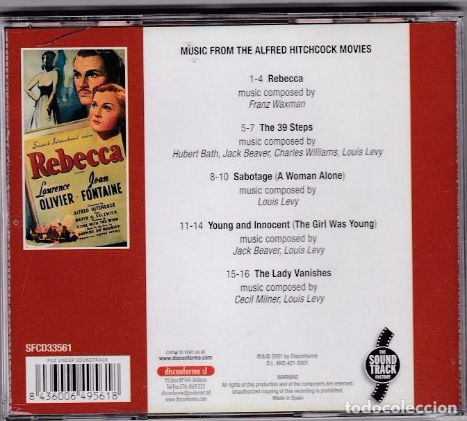 CDs de Música: Rebecca (Music From The Alfred Hitchcock Movies) - Franz Waxman - Foto 2 - 70075817
