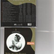 CDs de Música: GRANDES CLASICOS DEL CANTE FLAMENCO Nº 3 / NIÑA DE LOS PEINES /(LA EMPERADORA DEL CANTE) CD 2001. Lote 121260170