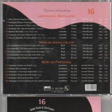 CDs de Música: GRANDES CLASICOS DEL CANTE FLAMENCO Nº 16 / (ESTILISTAS DEL FANDANGO) CD 2001. Lote 121260359