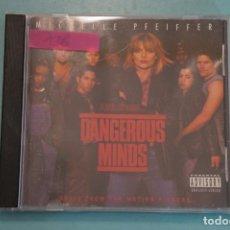 CDs de Música: CD DE PLÁSTICO:DANGEROUS MINDS,MENTES PELIGROSAS,AÑO 1995,Nº136,5+. Lote 70308797