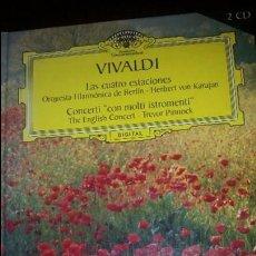 CDs de Música: VIVALDI.LAS CUATRO ESTACIONES Y L´ESTRO ARMONICO. KARAJAN - CONCERTI CON MOLTI ISTROMENTI. PINNOCK. Lote 70360317