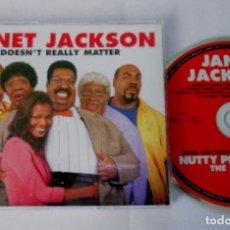 CDs de Música: JANET JACKSON - DOESN'T REALLY MATTER / EL PROFESOR CHIFLADO II - CD 4 VERSIONES - RARE. Lote 71171357