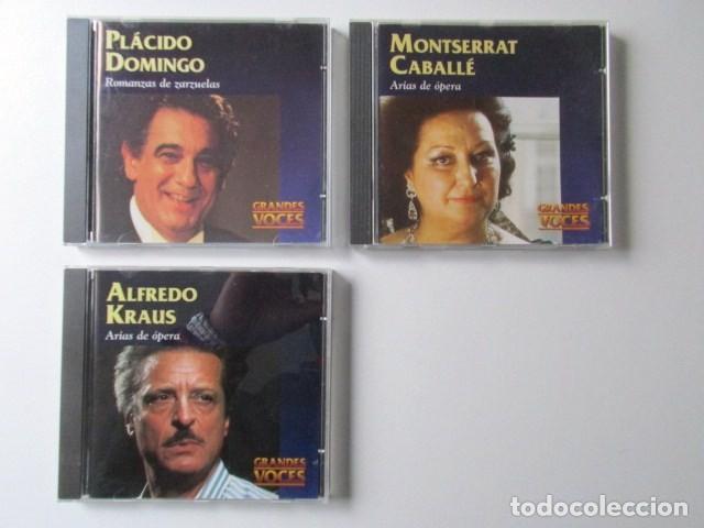 GRANDES VOCES, LOTE DE TRES CD, MONTSERRAT CABALLÉ, ALFREDO KRAUS Y PLÁCIDO DOMINGO (Música - CD's Clásica, Ópera, Zarzuela y Marchas)
