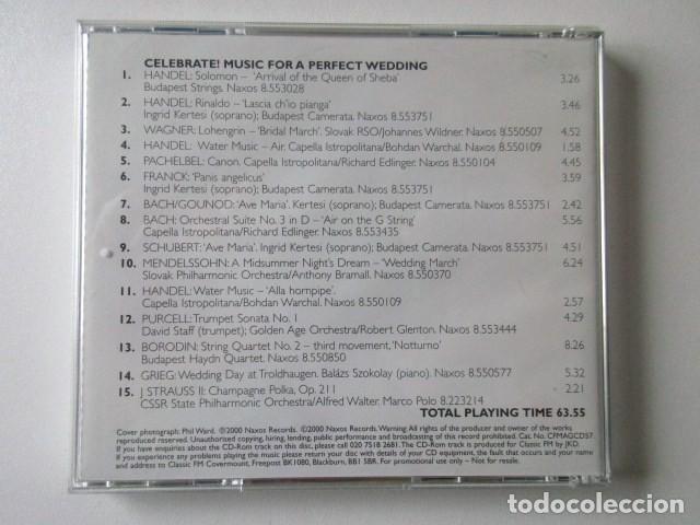 CDs de Música: MUSICA PARA UNA BODA PERFECTA, MUSIC FOR A PERFECT WEDING, CELEBRATE, CLASSIC FM - Foto 2 - 71659063