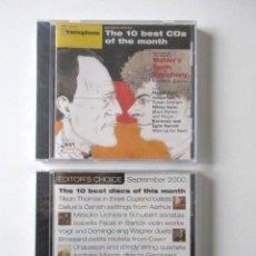 CDs de Música: REVISTA BRITÁNICA GRAMOPHONE, DOS CD PRECINTADOS CON LA MÚSICA SELECCIONADA POR LA REVISTA, AÑO 2000. Lote 71660671