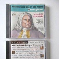 CDs de Música: REVISTA BRITÁNICA GRAMOPHONE, DOS CD PRECINTADOS CON LA MÚSICA SELECCIONADA POR LA REVISTA, AÑO 2000. Lote 71660895