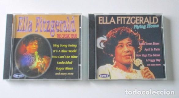 LOTE DE DOS CD DE ELLA FITZGERALD, THE CLASSIC YEARS Y FLYING HOME, SELLO COMET, AÑO 1997. (Música - CD's Otros Estilos)