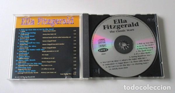 CDs de Música: LOTE DE DOS CD DE ELLA FITZGERALD, THE CLASSIC YEARS Y FLYING HOME, SELLO COMET, AÑO 1997. - Foto 2 - 71705391
