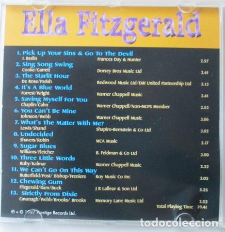 CDs de Música: LOTE DE DOS CD DE ELLA FITZGERALD, THE CLASSIC YEARS Y FLYING HOME, SELLO COMET, AÑO 1997. - Foto 3 - 71705391