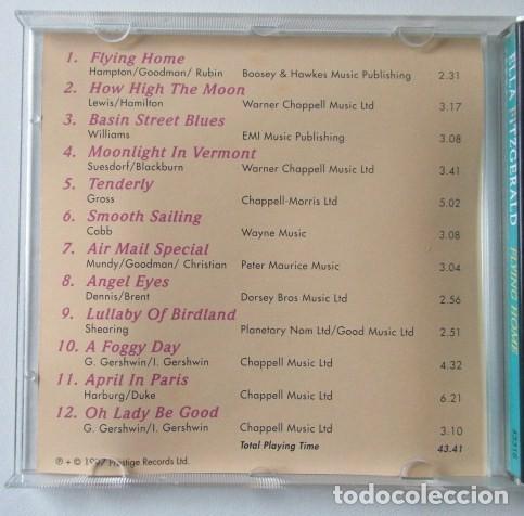 CDs de Música: LOTE DE DOS CD DE ELLA FITZGERALD, THE CLASSIC YEARS Y FLYING HOME, SELLO COMET, AÑO 1997. - Foto 5 - 71705391