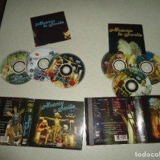 CDs de Música: SEMANA SANTA CORNETAS Y TAMBORES Y AGRUPACIONES MUSICALES MISTERIOS SEVILLA VOL 1Y2 4 CD 2 DVD. Lote 71746919