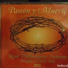 CDs de Música: CD DOBLE SEMANA SANTA SEVILLA - ORQUESTA FILARMONICA , JESUS BOLA . PASION Y MUERTE. Lote 71749103