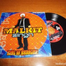 CDs de Música: MALKIT SINGH KING OF BHANGRA CD ALBUM PROMO CARTON 2004 ESPAÑA CONTIENE 12 TEMAS + VIDEO. Lote 71839355