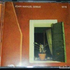 CDs de Música: JOAN MANUEL SERRAT - 1978 CD. Lote 72127223