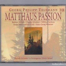 CDs de Música: GEORG PHILIPP TELEMANN - MATTHÄUS PASSION (2CD 2003, BRILLANT CLASSICS 99227). Lote 72162195