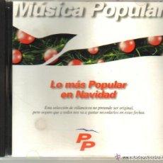 CDs de Música: CD - LO MAS POPULAR EN NAVIDAD - 12 VILLANCICOS - PROMOCION DEL PP EN 1993. Lote 72193399