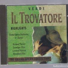 CDs de Música: VERDI - IL TROVATORE (CD 1992, THE GRAND OPERA COLLECTION, SYMPHONY SYCD 6154 G). Lote 72250635