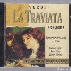 CDs de Música: VERDI - LA TRAVIATA (CD 1992, THE GRAND OPERA COLLECTION, SYMPHONY SYCD 6156). Lote 72251463