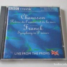 CDs de Música: CHAUSSON, POEME DEL AMOUR ET DE LA MER, CD DE MÚSICA CLÁSICA SELECCIONADA POR LA BBC MUSIC, AÑO 2000. Lote 72312835