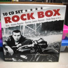 CDs de Música: ROCK BOX 10 CD SET CAJA COLECCION MEJORES BANDAS ROCK ASIA, ATOMIC ROOSTER, BARCLAY HARVEST, URIAH…. Lote 72330403
