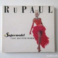 CDs de Música: RUPAUL, SUPERMODEL (YOU BETTER WORK) CD SINGLE EDITADO EN REINO UNIDO, AÑO 1992. Lote 72342799