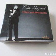 CDs de Música: LUIS MIGUEL, TODOS LOS ROMANCES, ROMANCE, SEGUNDO ROMANCE, ROMANCES. Lote 72344715