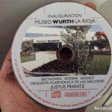 CDs de Música: CD INAUGURACIÓN MUSEO WURTH LA RIOJA. Lote 72346455