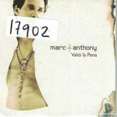 CDs de Música: CDSINGLE CARTON - MARC ANTHONY - VALIO LA PENA / SALSA VERSION . Lote 72441295