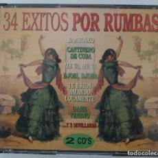 CDs de Música: CAJA BOX 2 CD´S: 34 EXITOS POR RUMBAS, LAS MEJORES – RUMBA - VEANSE TITULOS DE LAS CANCIONES . Lote 72613479