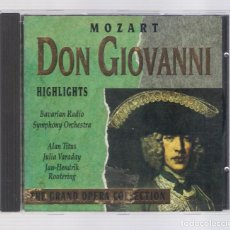 CDs de Música: MOZART - DON GIOVANNI (CD 1992, THE GRAND OPERA COLLECTION, SYMPHONY SYCD 6161 G). Lote 72756431