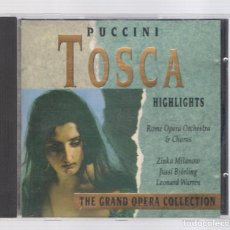CDs de Música: PUCCINI - TOSCA (CD 1992, THE GRAND OPERA COLLECTION, SYMPHONY SYCD 6159 G). Lote 72756911