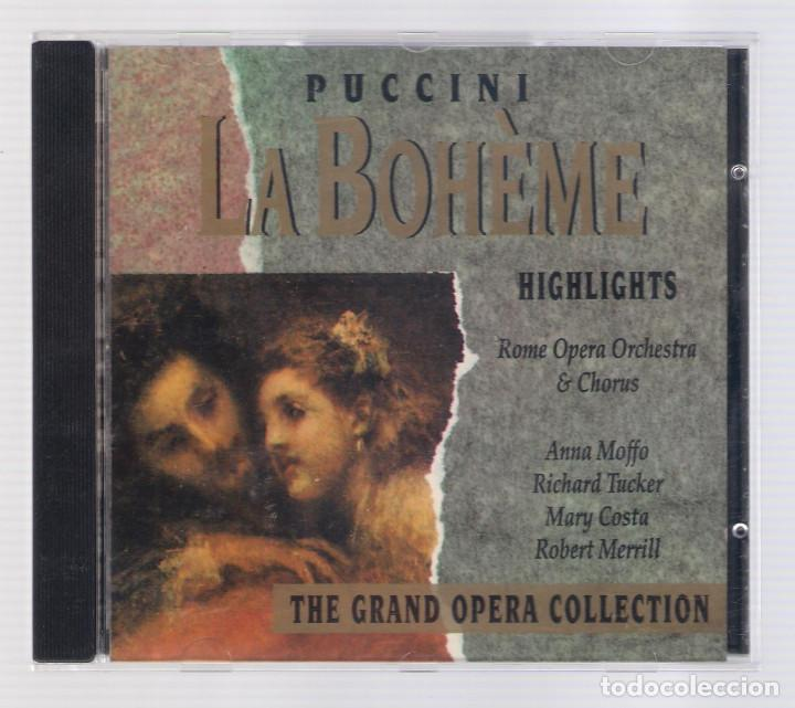 PUCCINI - LA BOHÈME (CD 1992, THE GRAND OPERA COLLECTION, SYMPHONY SYCD 6157) (Música - CD's Clásica, Ópera, Zarzuela y Marchas)