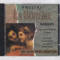 CDs de Música: PUCCINI - LA BOHÈME (CD 1992, THE GRAND OPERA COLLECTION, SYMPHONY SYCD 6157). Lote 72757151