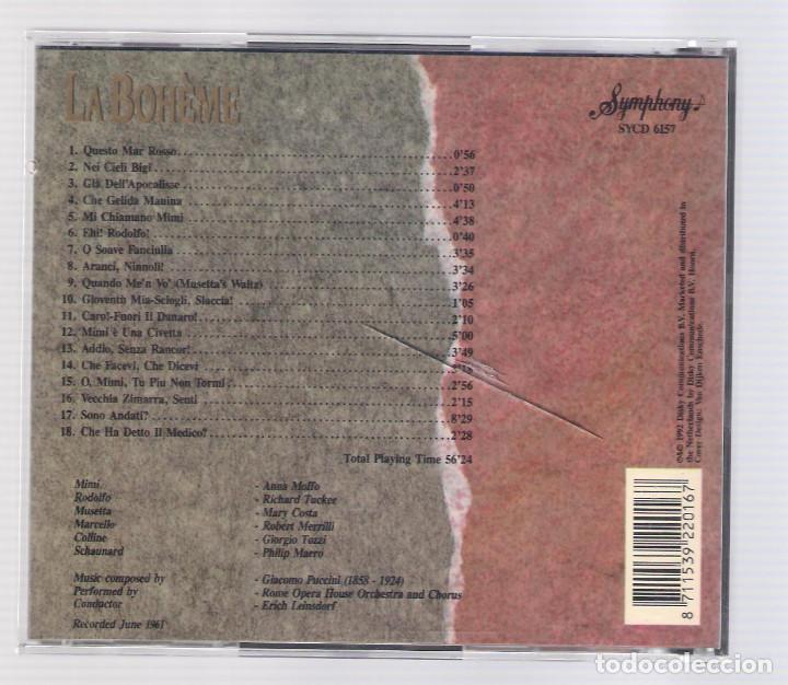 CDs de Música: PUCCINI - La Bohème (CD 1992, The Grand Opera Collection, Symphony SYCD 6157) - Foto 2 - 72757151