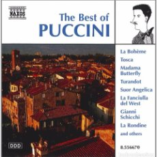 CDs de Música: THE BEST OF PUCCINI - NAXOS. Lote 72908523