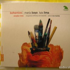 CD di Musica: MARIA BAYO LUIS LIMA - BOHEMIOS - 1994 - CD + LIBRITO - CD. Lote 73009923