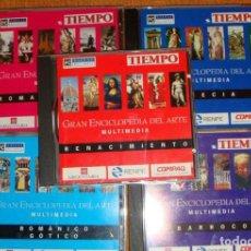 CDs de Música: GRAN ENCICLOPEDIA DEL ARTE SALVAT MULTIMEDIA 5 CDS ROM RENACIMIENTO-ROMÁNICO-GÓTICO-BARROCO-GRECIA. Lote 73421963