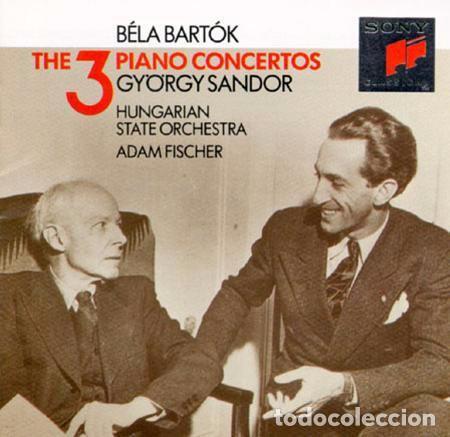 BÉLA BARTOK - THE 3 PIANO CONCERTOS - GYORGY SANDOR - ADAM FISCHER (Música - CD's Clásica, Ópera, Zarzuela y Marchas)