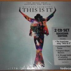 CDs de Música: MICHAEL JACKSON - THIS IS IT - 2 CD SET SOUVENIR EDITION NUEVO PRECINTADO. Lote 73783015